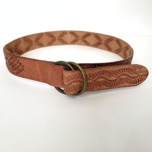 Abercrombie Brown Leather Belt L/XL